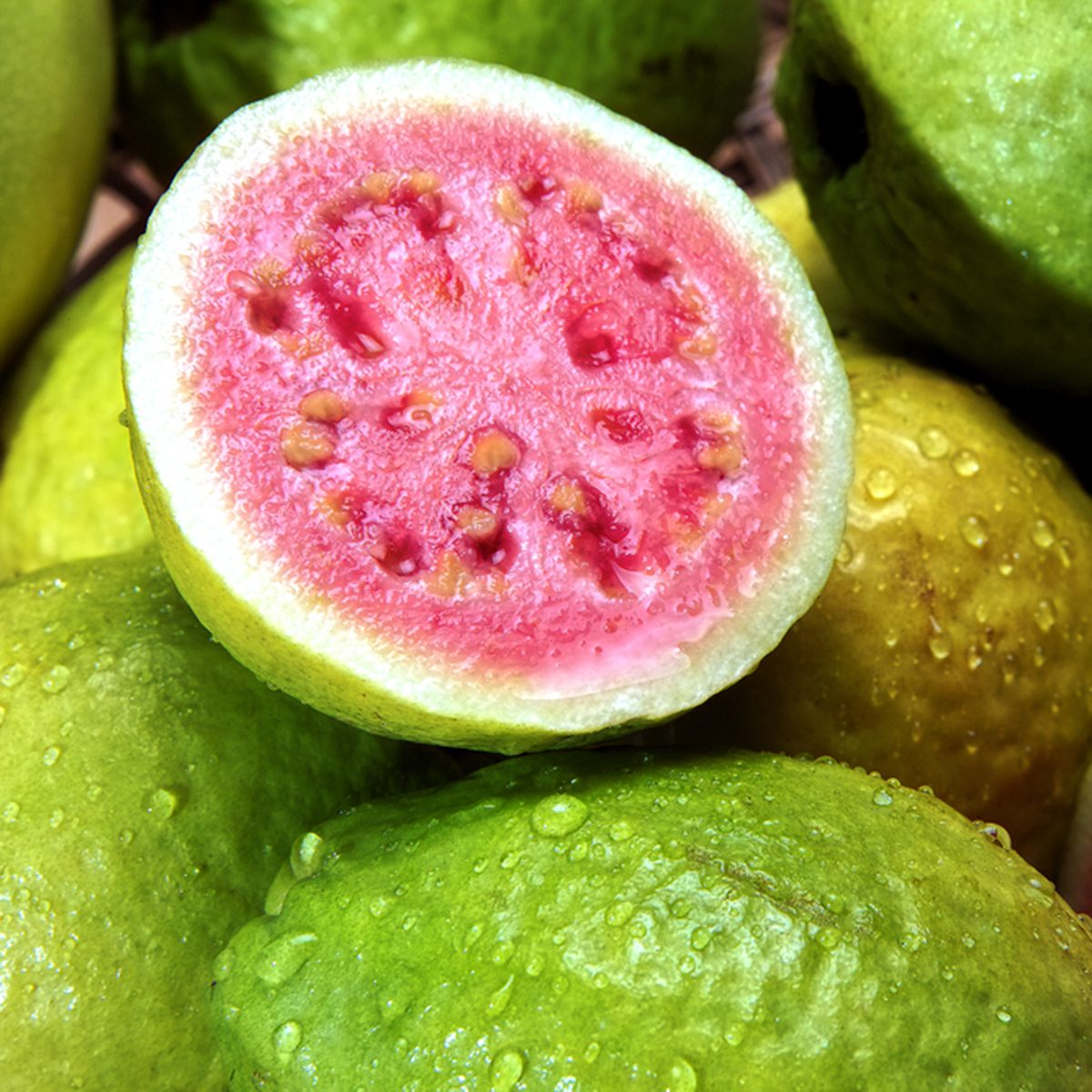 guavas with water droplets