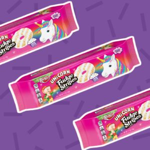 Keebler Releases a New Unicorn Fudge Stripes Cookie