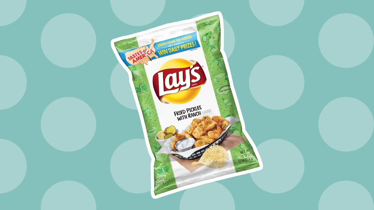 fried pickle lays