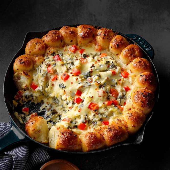 Three Cheese Artichoke & Spinach Dip