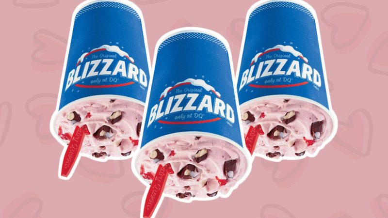 dairy queen valentine's day blizzard