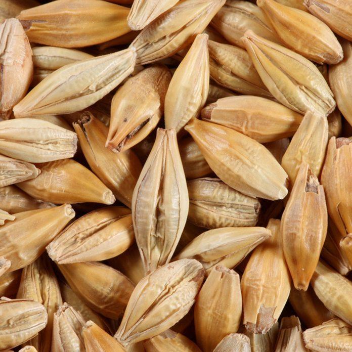 Barleycorn seeds close-up background texture