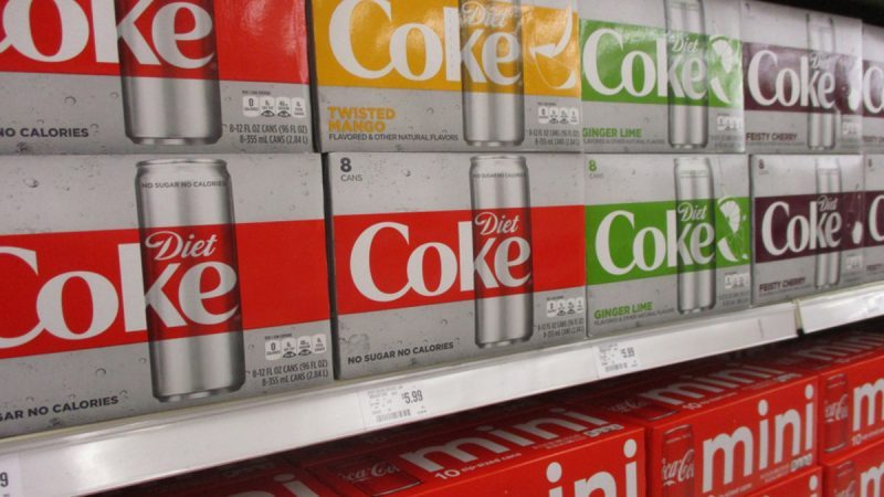 Diet Coke flavors and mini Coke packaging at store