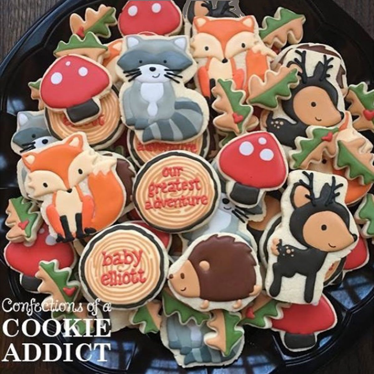 Forest friends cookies