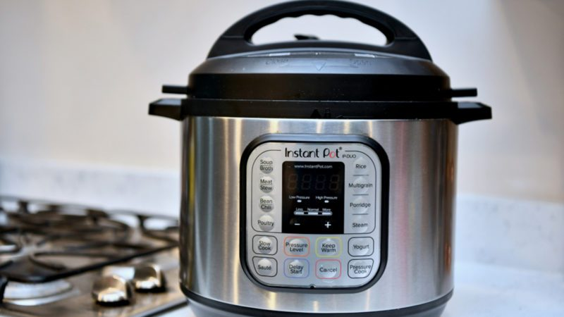The popular instant pot in the kitchen of a home.