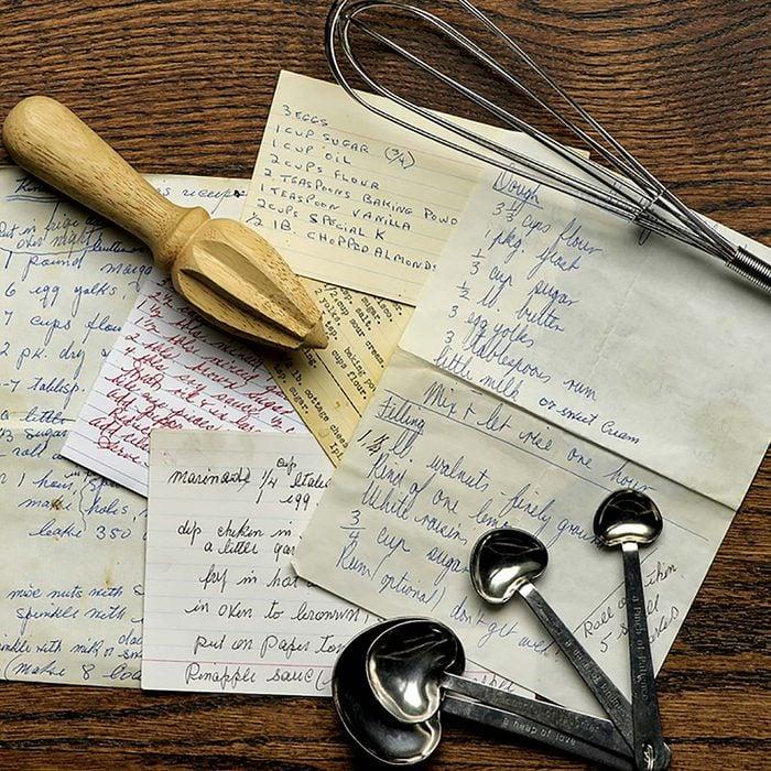 Hand-written recipes