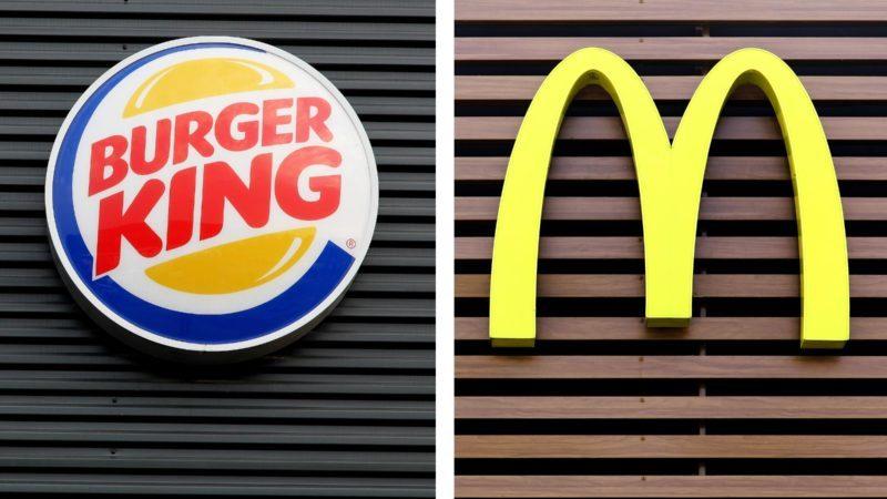 Burger King and McDonald's logos