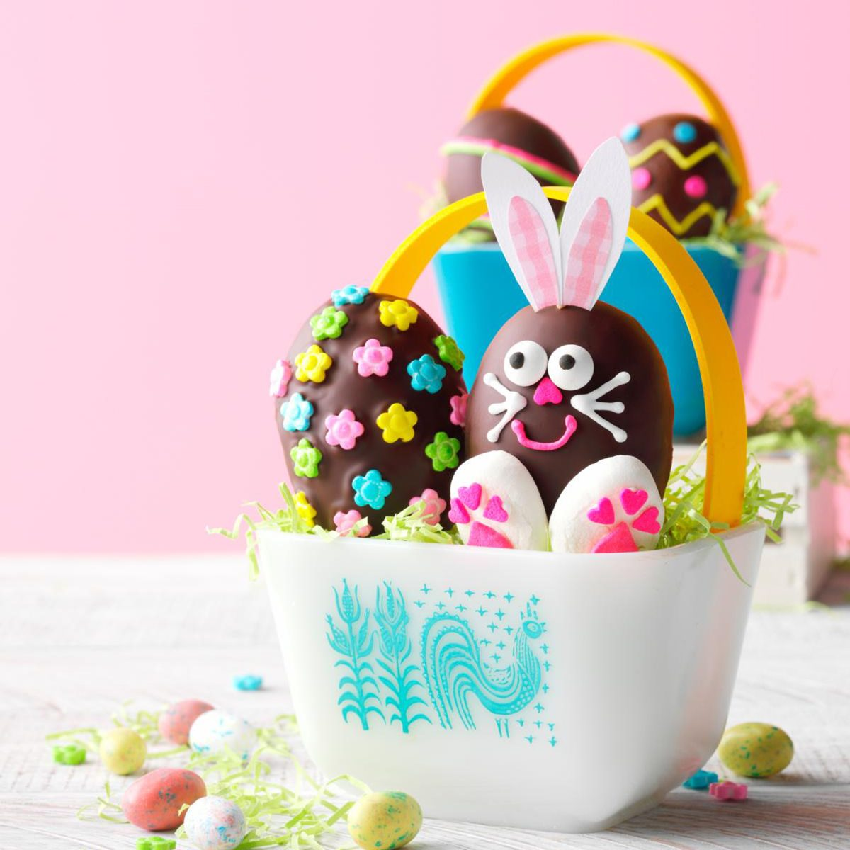 Pyrex Easter basket