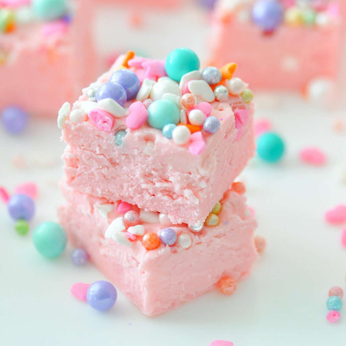 Easy Two Ingredient Unicorn Fudge