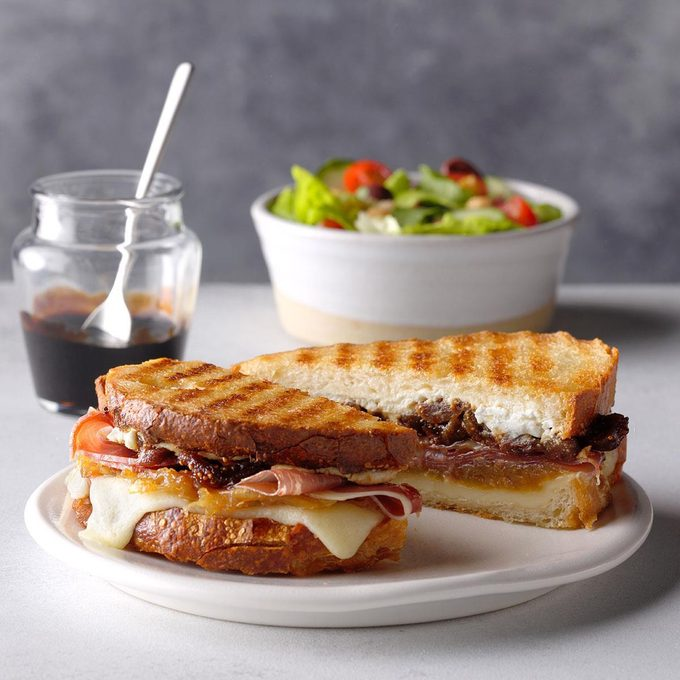 Goes with Onion Soup: Fig, Caramelized Onion and Goat Cheese Panini