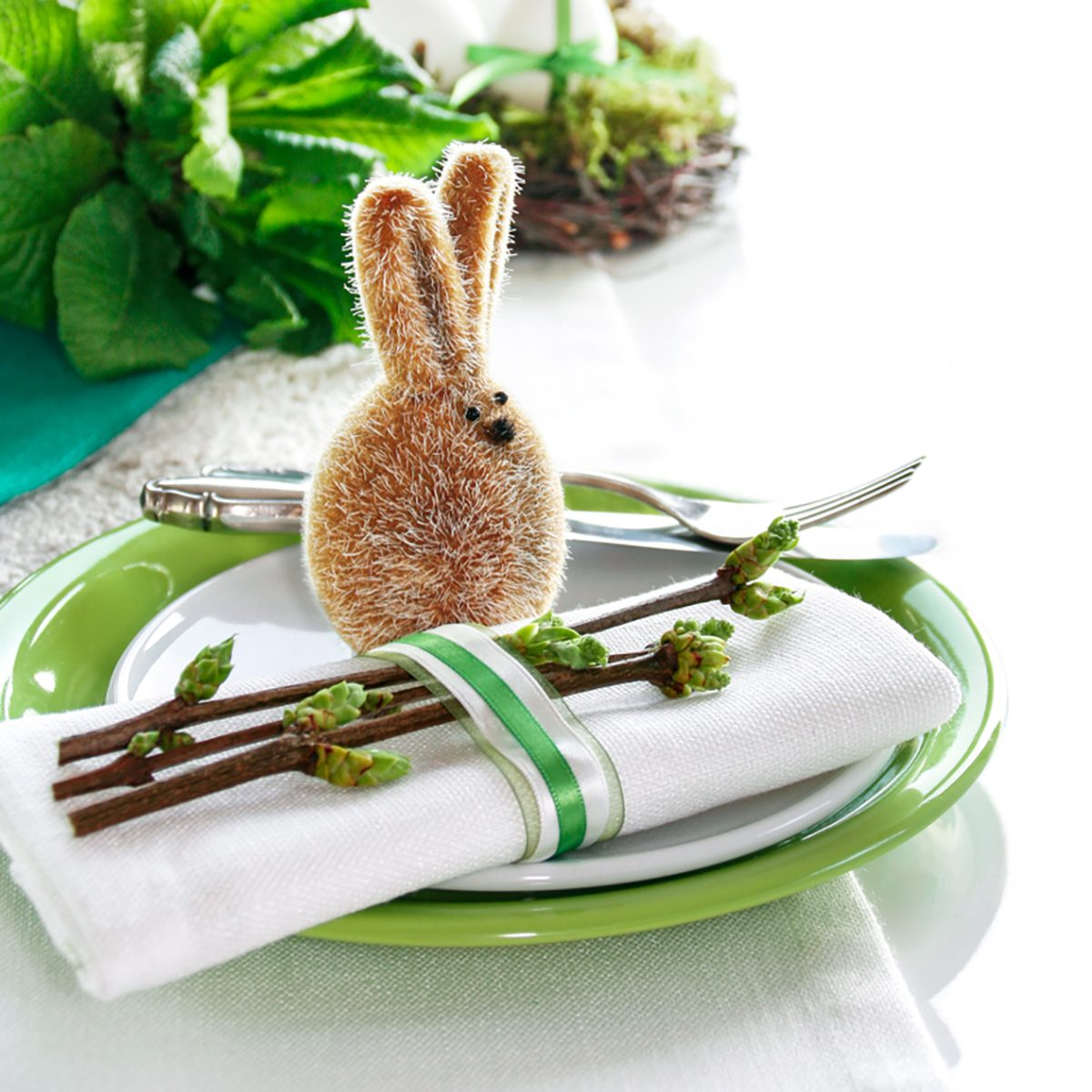 Place Setting with Easter Bunny
