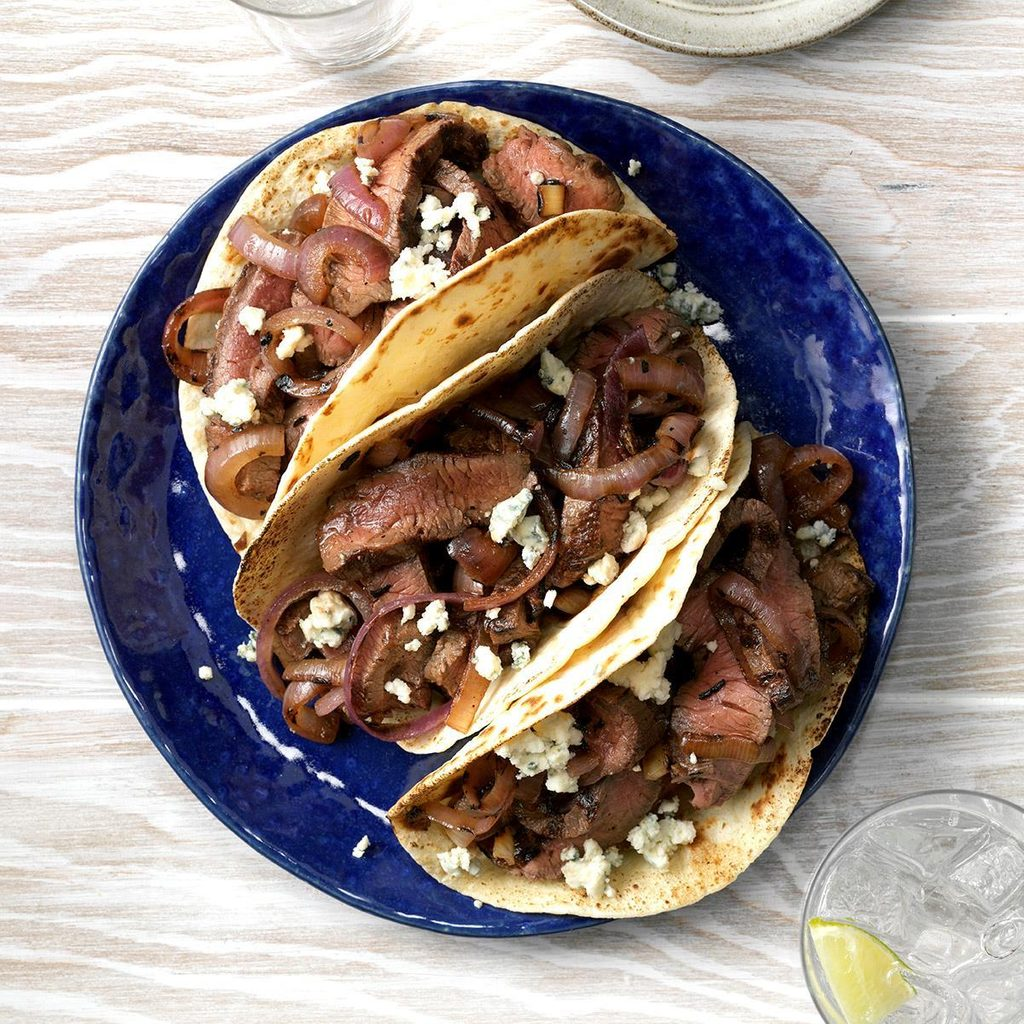 Grilled Beef and Blue Cheese Tacos