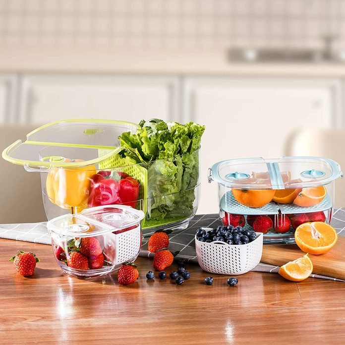 Luxear Produce Veggie Storage Containers