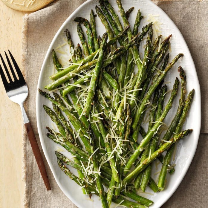 Lemon-Parmesan Broiled Asparagus