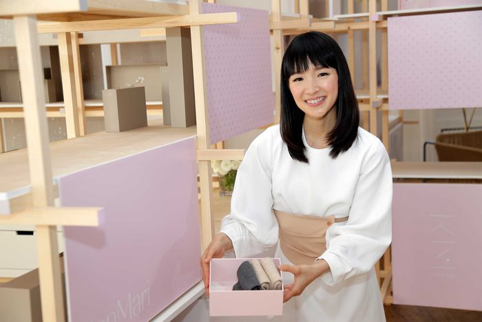 Marie Kondo poses for a picture during a media event in New York