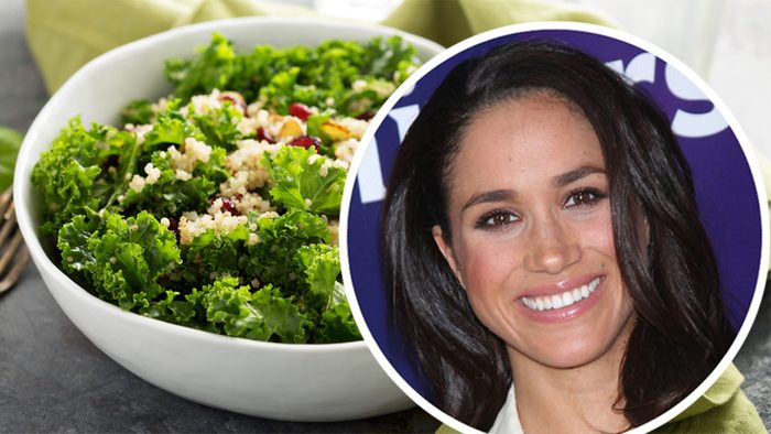 Fresh healthy salad with kale, almond, cranberry and quinoa; Shutterstock ID 488662984; Job (TFH, TOH, RD, BNB, CWM, CM): TOH