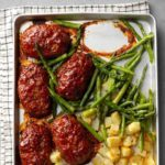 Mini Meat Loaf Sheet-Pan Meal