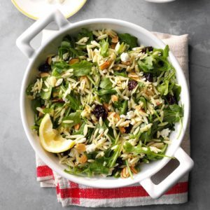 Orzo with Feta and Arugula
