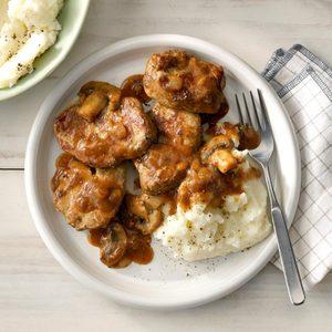 Peppered Pork with Mushroom Sauce