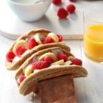 Raspberry-Banana Breakfast Tacos