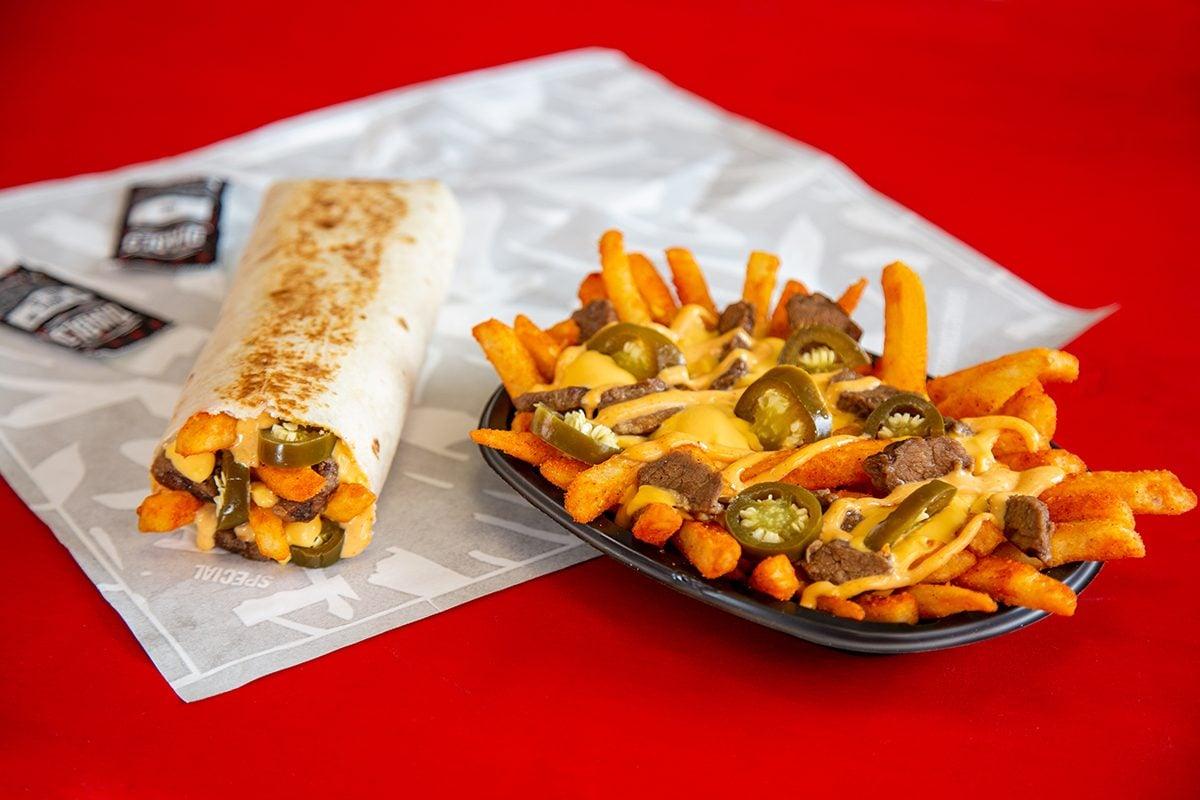 steak rattlesnake fries from taco bell