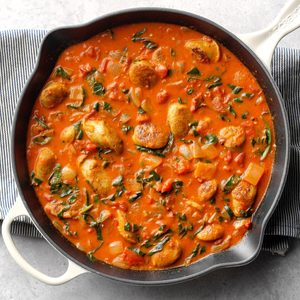 Sausage-Tomato Coconut Curry