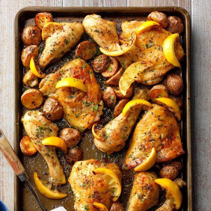 Sheet Pan Lemon Garlic Chicken  Exps Sdam19 232898 B12 05 6b