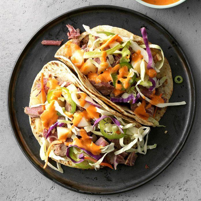 Spicy Corned Beef Tacos