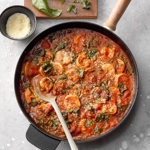Spinach and Shrimp Fra Diavolo