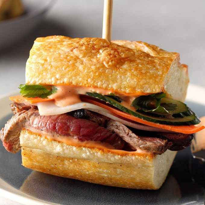 Steak Sandwiches with Quick-Pickled Vegetables