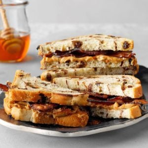Sweet and Spicy Peanut Butter-Bacon Sandwiches
