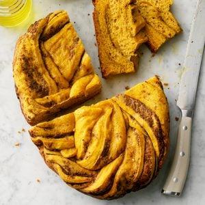 Sweet Potato & Pesto Slow Cooker Bread