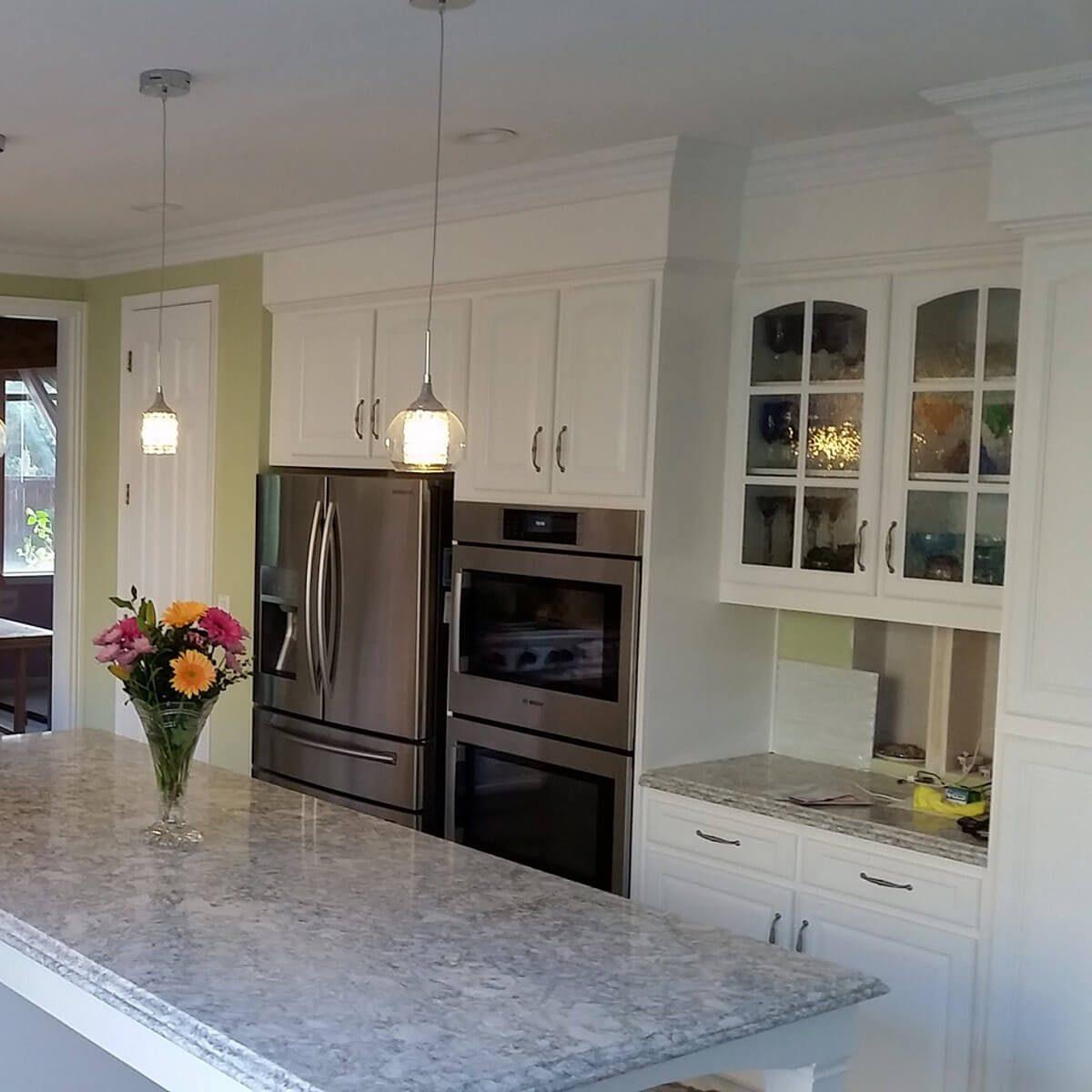 Finishing details on kitchen