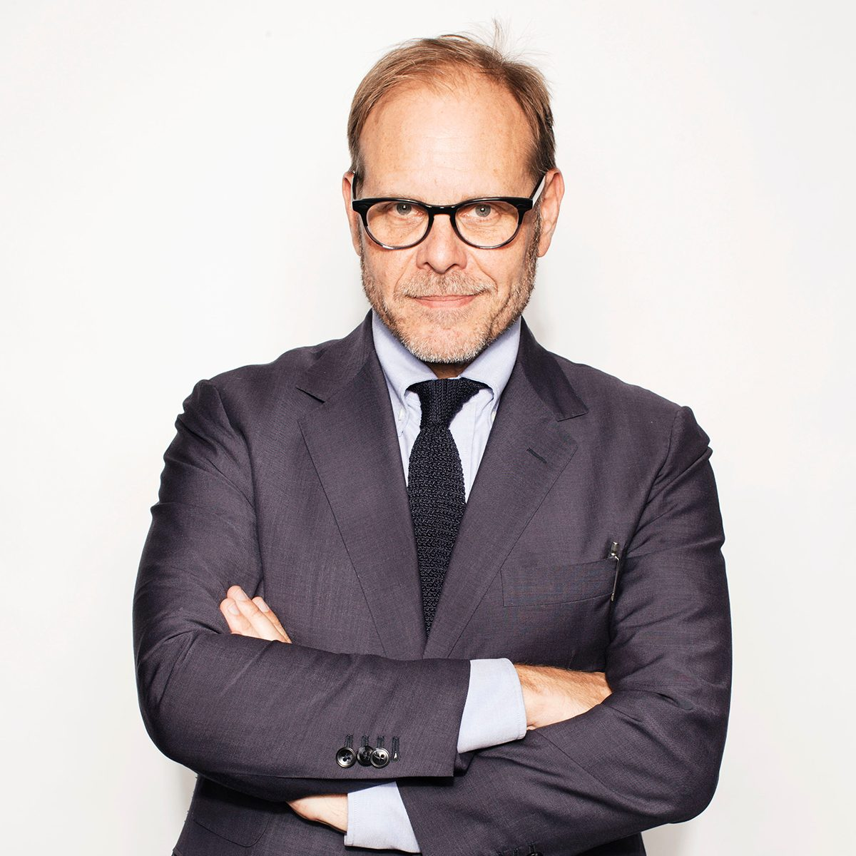 """Mandatory Credit: Photo by Victoria Will/Invision/AP/REX/Shutterstock (9112648e) Alton Brown poses for a portrait in New York to promote his cookbook, """"EveryDayCook: This Time It's Personal,"""" and a live Broadway variety show with a mix of unusual food demonstrations, puppets and songs Alton Brown Portrait Session, New York, USA"""