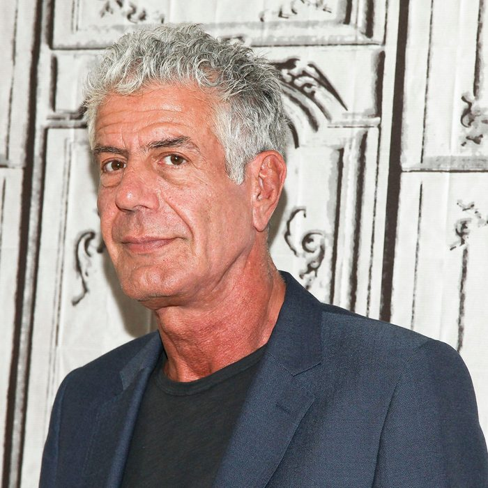 """Mandatory Credit: Photo by Andy Kropa/Invision/AP/REX/Shutterstock (9794722a) Anthony Bourdain participates in the BUILD Speaker Series to discuss the online film series """"Raw Craft"""" at AOL Studios in New York. New Jersey might honor celebrity chef Bourdain, writer and host of the CNN series """"Parts Unknown"""" killed himself, with a food trail. Democratic Assemblyman Paul Moriarty on Monday, June 18, 2018, introduced a resolution that would establish the """"Anthony Bourdain Food Trail."""" Bourdain grew up in the New Jersey suburb of Leonia Obit Anthony Bourdain, New York, USA - 2 Nov 2016"""