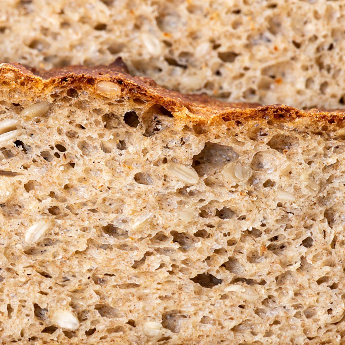 whole grain or whole wheat bread, slices of homemade bread.
