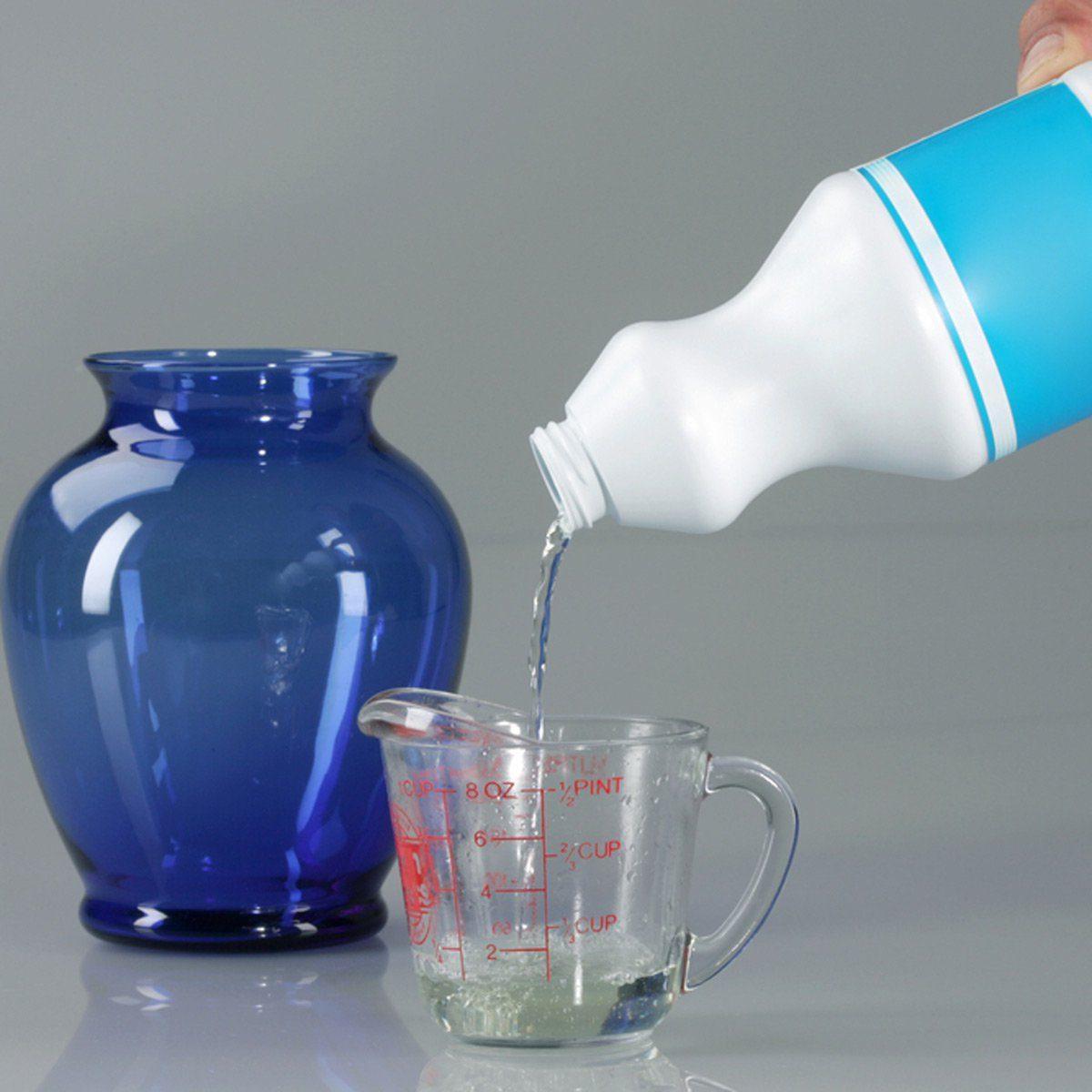 Pouring bleach