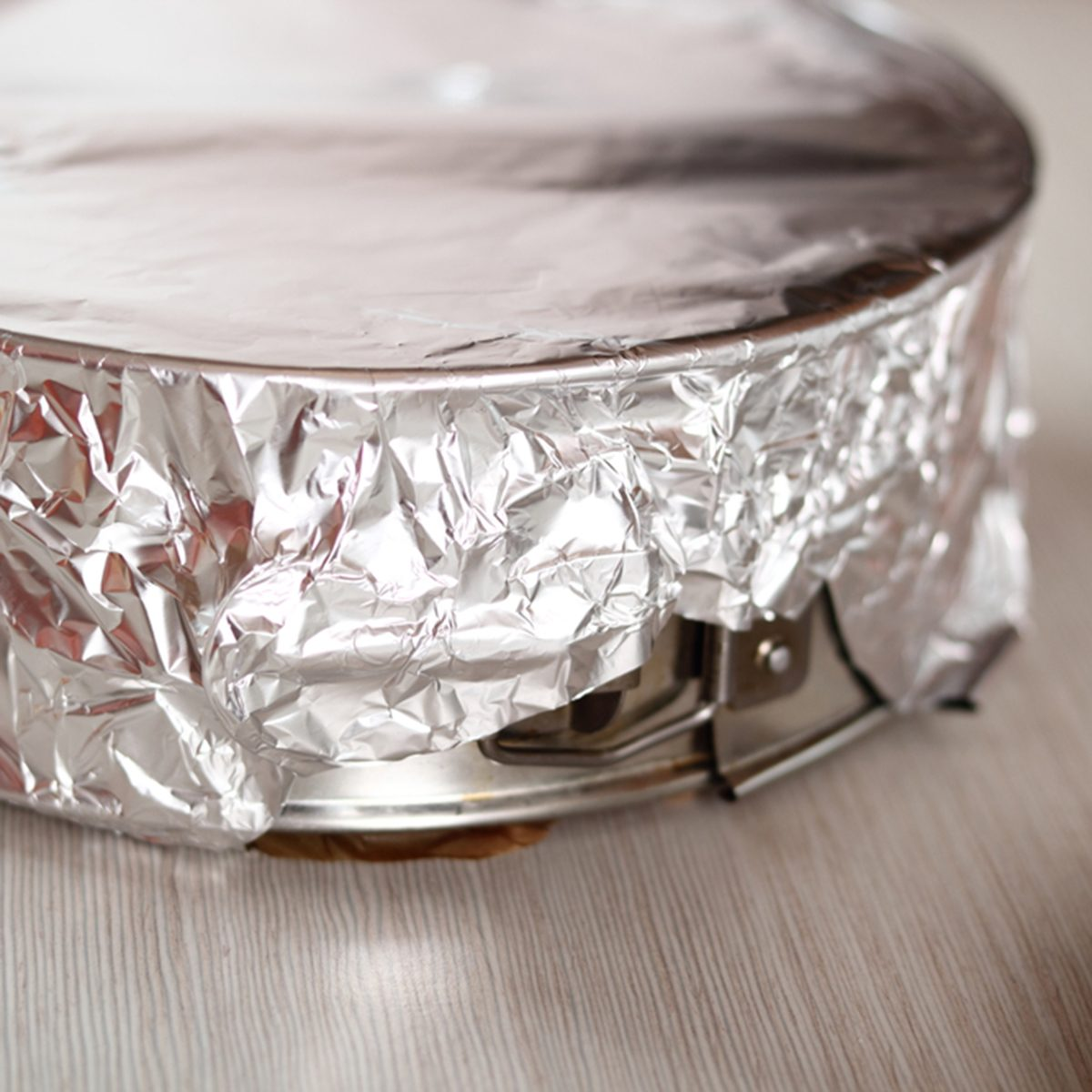 Covering baking pan with foil before and place to fridge.