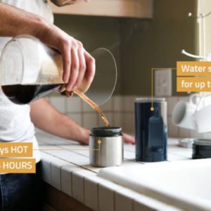 Revolutionary Bottle Holds Hot Coffee And Cold Water At The Same Time