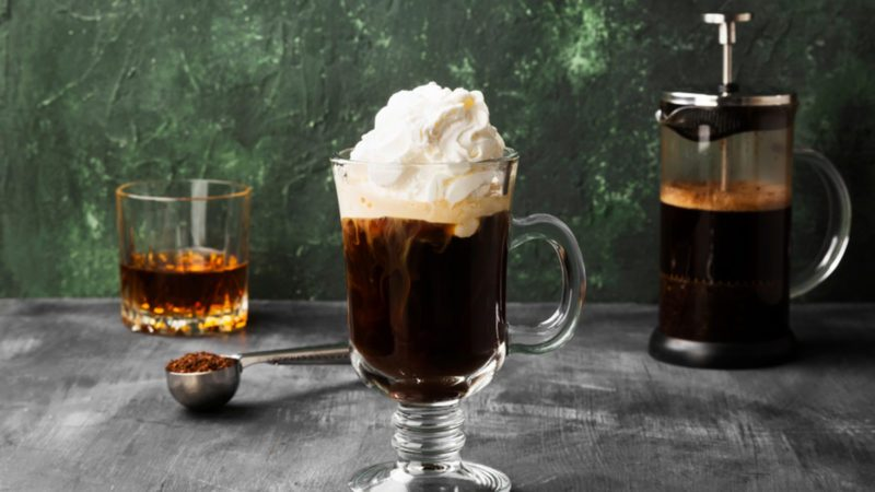 Irish coffee recipe made with Irish whiskey