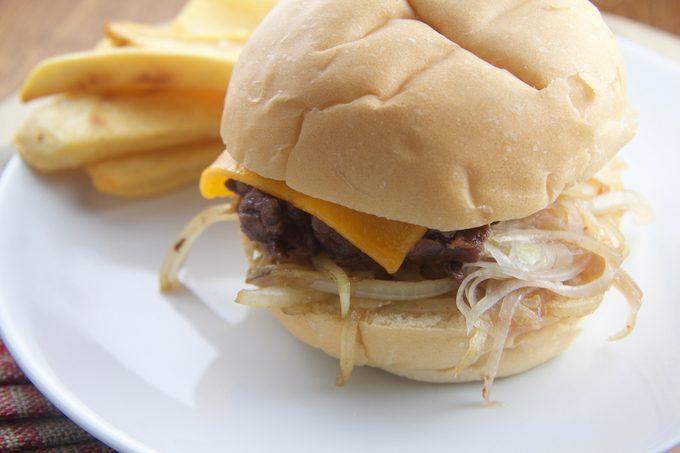finished onion burger