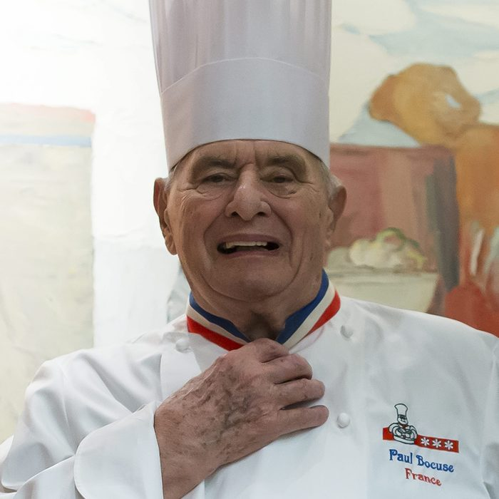 Mandatory Credit: Photo by Ian Langsdon/EPA/REX/Shutterstock (8452103v) French Chef Paul Bocuse Poses on the Premises of His Three-michelin Star Restaurant L'auberge Du Pont De Collonges in Lyon France 10 February 2016 Paul Bocuse Will Celebrate His 90th Birthday on 11 February 2016 Bocuse's Own L'auberge Du Pont De Collonges Which Lies Slightly Outside Lyon Has Been a Three-star Restaurant Since 1965 Over the Years the 90-year-old Has Opened Up a Number of Brasseries and Luxury Snack Bars His Son Jerome Lives in Florida Usa where He Runs the Restaurants at the French Pavilion in Walt Disney World's Epcot Center in Orlando France Lyon France Paul Bocuse - Feb 2016