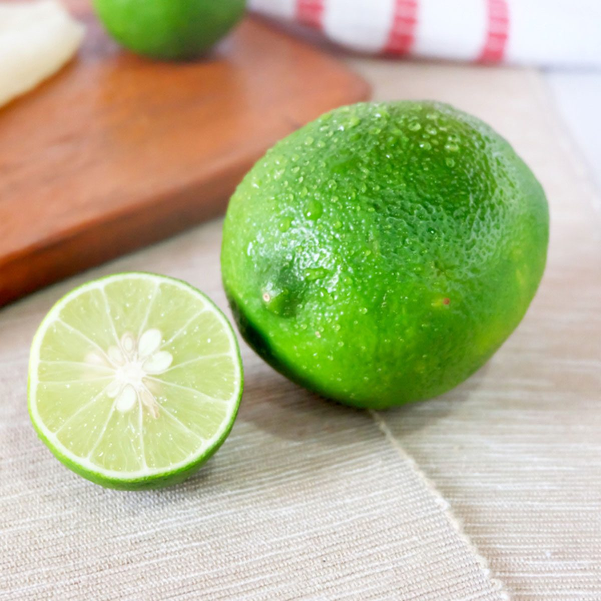 Fresh green lime