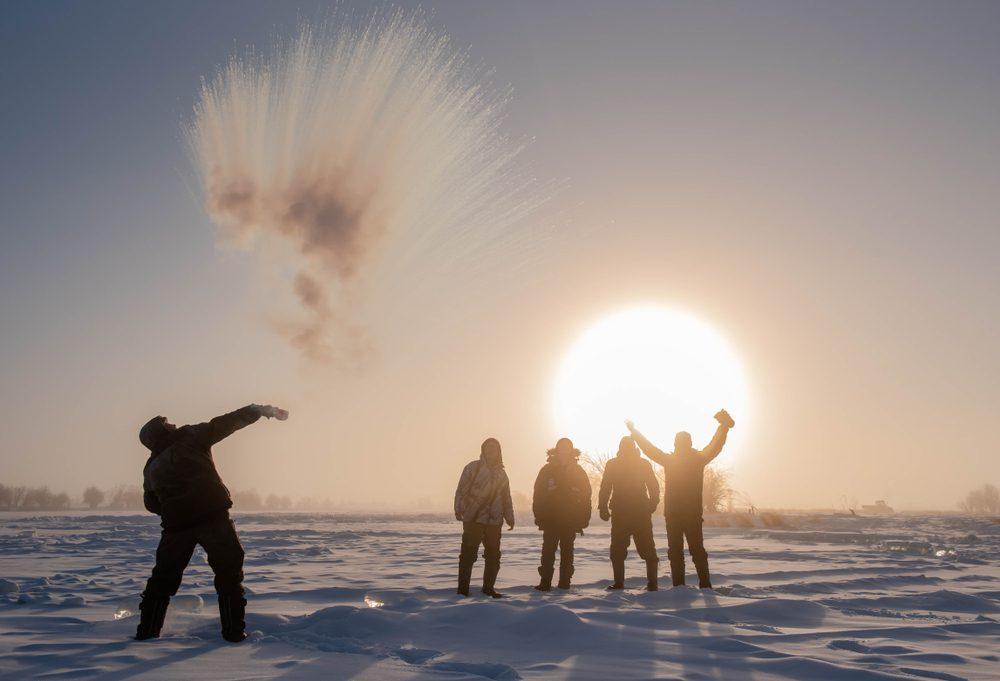 frost -52 degrees polar vortex