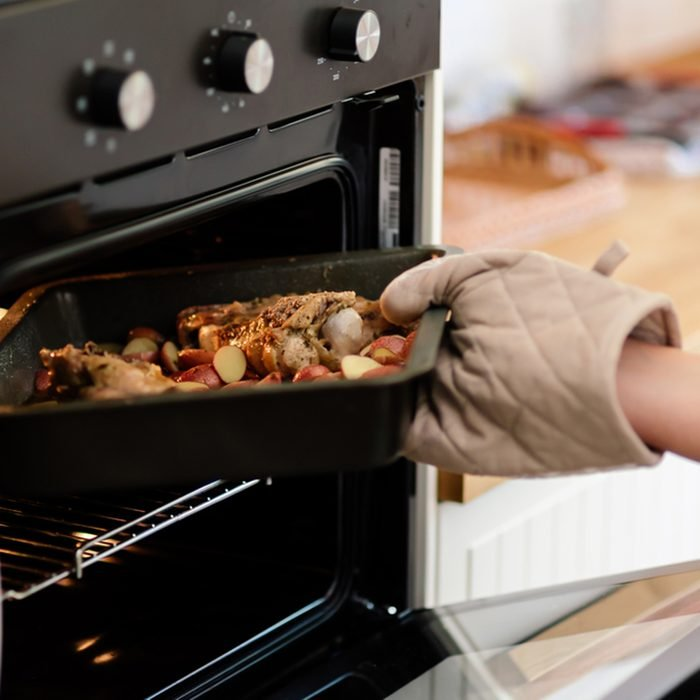 Meat and potatos being done in oven; Shutterstock ID 522490159; Job (TFH, TOH, RD, BNB, CWM, CM): TOH