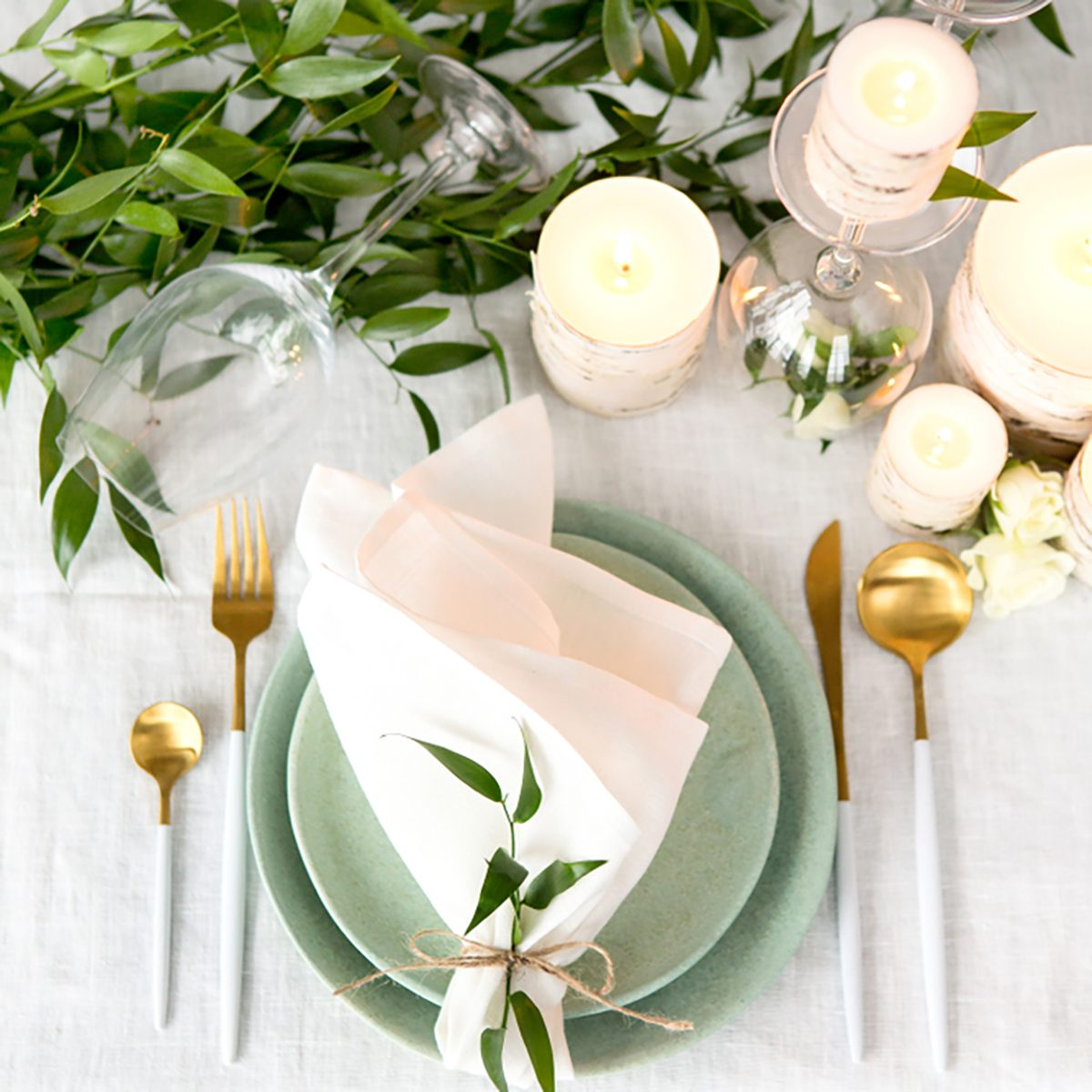 Beautiful holiday table setting