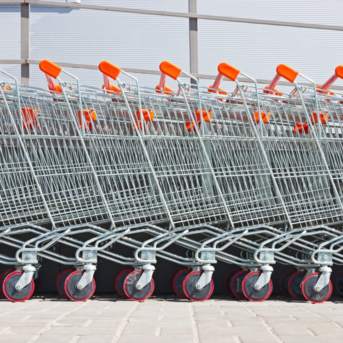 Shopping carts stacked together