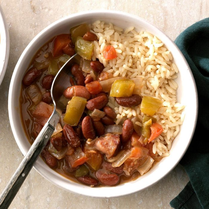 Pressure-Cooker Red Beans and Rice
