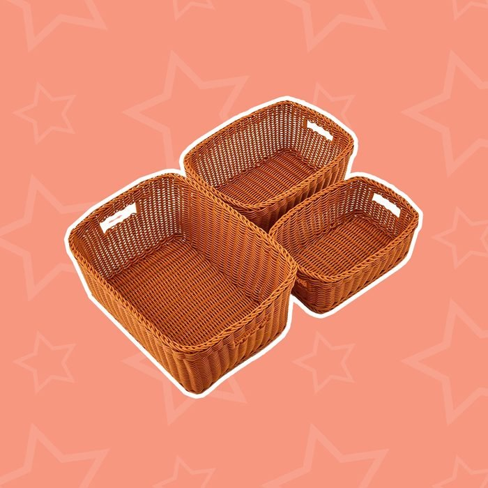 Set of 3 Plastic Waterproof Storage Baskets