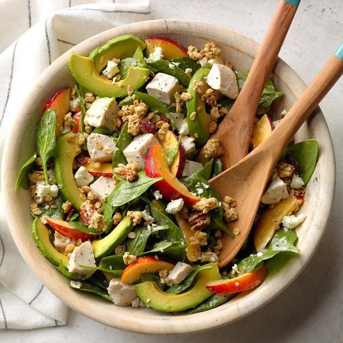 Chicken Nectarine And Avocado Salad Exps Bfbz19 200496 B01 16 1b 1